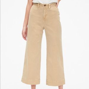 Gap High Rise Wide Leg Crop